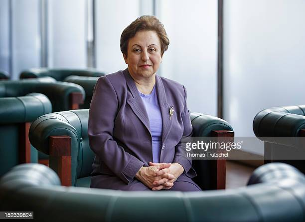 Iranian lawyer Shirin Ebadi Nobel Peace Prize winner 2003 poses for a photograph at the 'The Value of Europe' Conference at the Federal Foreign...