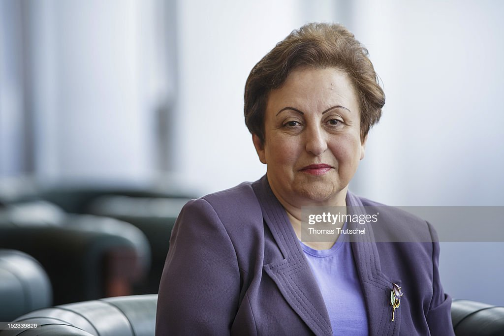 Iranian lawyer <a gi-track='captionPersonalityLinkClicked' href=/galleries/search?phrase=Shirin+Ebadi&family=editorial&specificpeople=563922 ng-click='$event.stopPropagation()'>Shirin Ebadi</a>, Nobel Peace Prize winner 2003, poses for a photograph at the 'The Value of Europe' Conference at the Federal Foreign Office on September 18, 2012 in Berlin, Germany. European intellectuals, politicians and business experts discussed what Europe's value really is today. The conference, held in cooperation with the Bertelsmann Foundation, ARTE and Deutschlandfunk, aims to give fresh impetus to the debate about Europe's future.