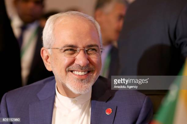 Iranian Minister of Foreign Affairs Mohammad Javad Zarif attends the Executive Committee Meeting of Organization of Islamic Cooperation at the Swiss...