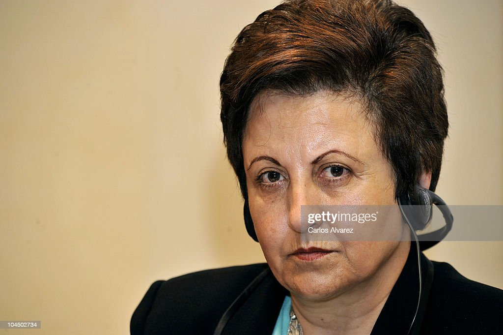 Iranian Nobel Peace Prize <a gi-track='captionPersonalityLinkClicked' href=/galleries/search?phrase=Shirin+Ebadi&family=editorial&specificpeople=563922 ng-click='$event.stopPropagation()'>Shirin Ebadi</a> attends 'Save the Children' awards press conference on September 28, 2010 in Madrid, Spain.