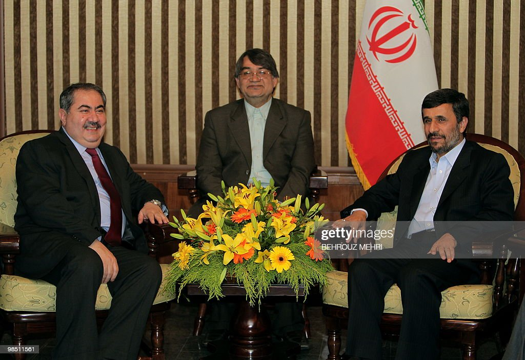Iranian President Mahmoud Ahmadinejad meets with Iraqi Foreign Minister Hoshyar Zebari on the sidelines of the a twoday nuclear disarmament...