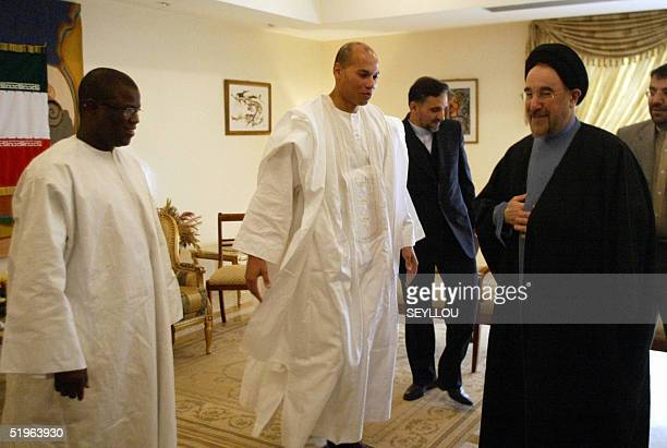 Iranian President Mohammad Khatami receives Karim Wade president of the Organisation of the Islamic Conference of 2006 and Abdoulaye Balde OCI...