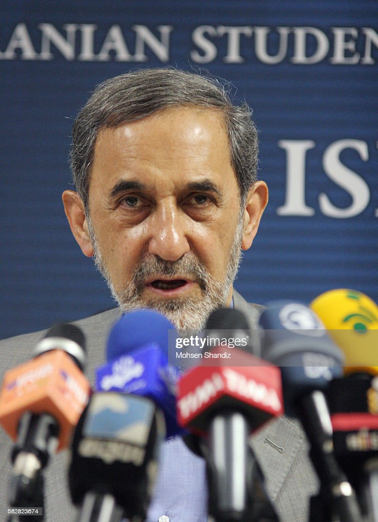 Iranian presidential candidate Ali Akbar Velayati attends a press conference in Tehran Iran Monday June 3 2013 The 11th presidential election after...