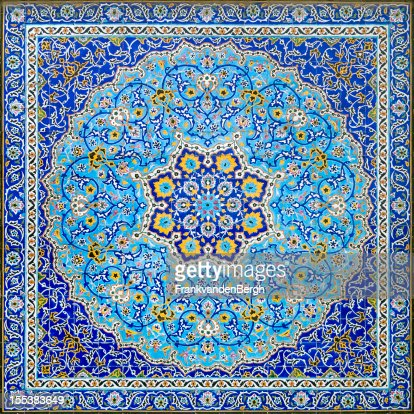 iranian tile decor stock photo - Tile Decor