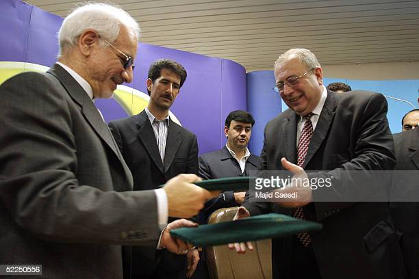 Iranian Vice President Gholamreza Aghazadeh who is head of Iran's Atomic Energy Organization and head of Russia's Federal Atomic Energy Agency...