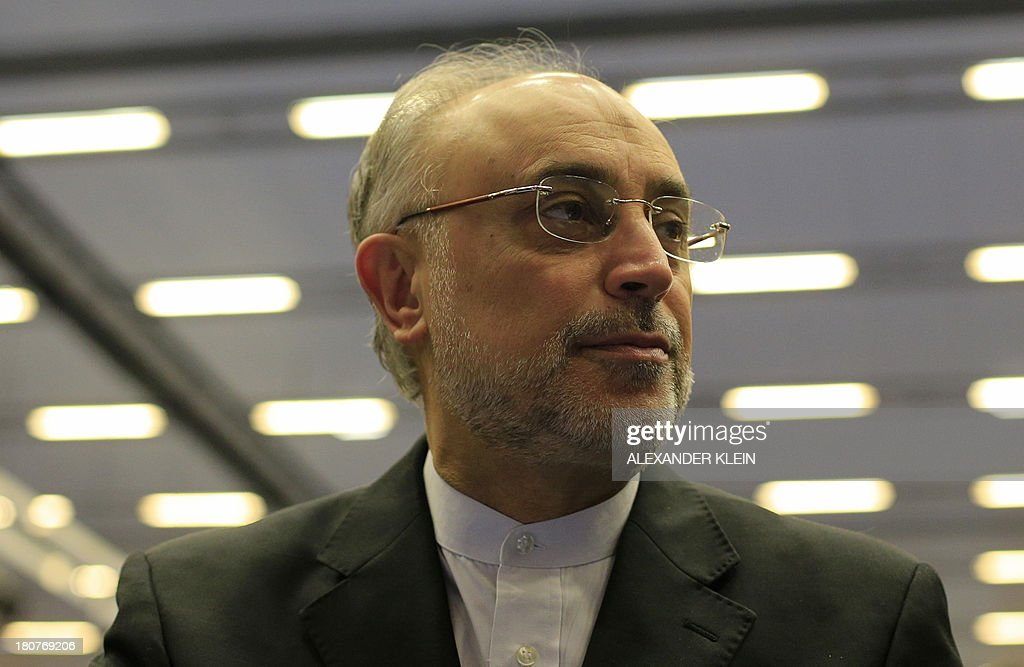 Iranian Vice-President <a gi-track='captionPersonalityLinkClicked' href=/galleries/search?phrase=Ali+Akbar+Salehi&family=editorial&specificpeople=3125551 ng-click='$event.stopPropagation()'>Ali Akbar Salehi</a> attends the 57th General Conference of the International Atomic Energy Agency IAEA at the UN atomic agency headquarters in Vienna, Austria on September 16, 2013. Iran's new nuclear chief said Monday, September 16, 2013 that Tehran was 'optimistic' about upcoming talks with world powers, offering 'enhanced' but unspecified cooperation with the UN atomic agency.