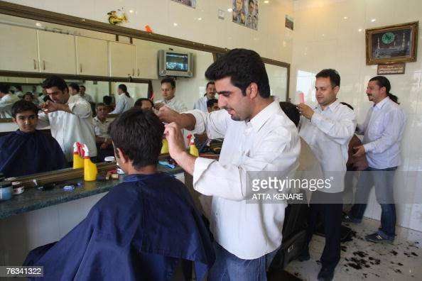 Western Hair Styles: Iranian Youths Get A Haircut In An Uptow Pictures