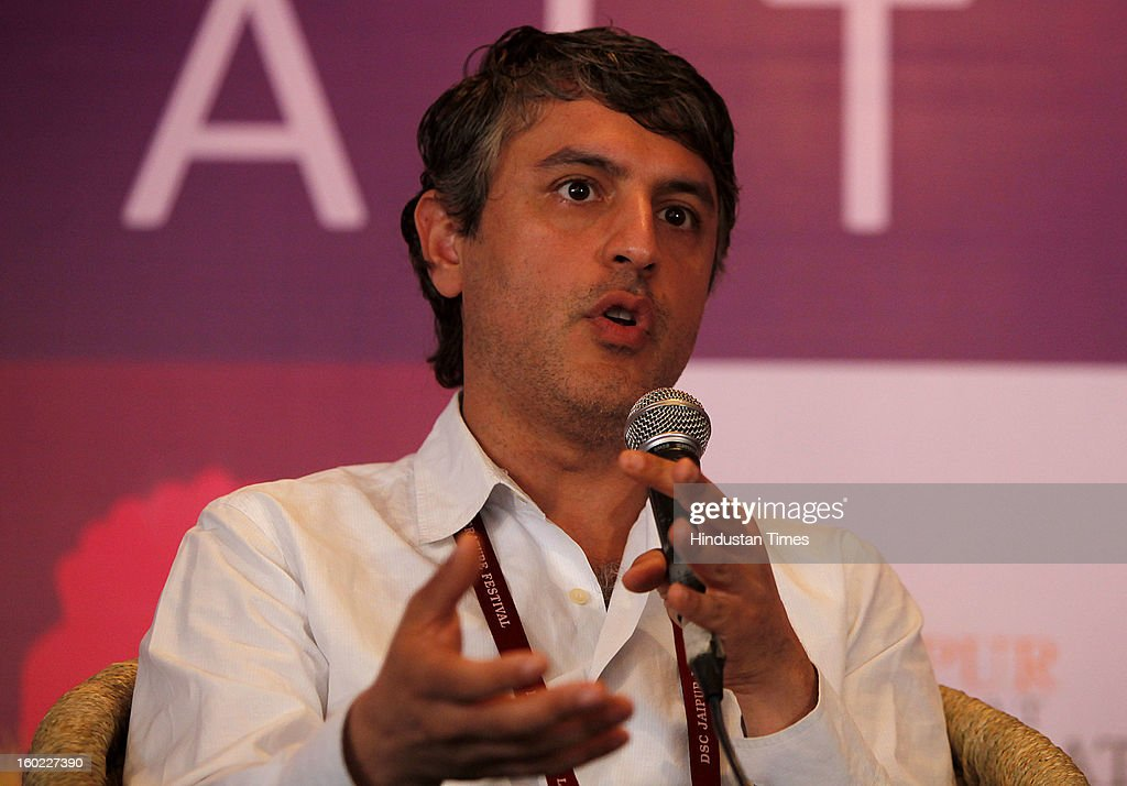 Iranian-American writer Reza Aslan at the Jaipur Literature Festival on January 28, 2013 in Jaipur, India.