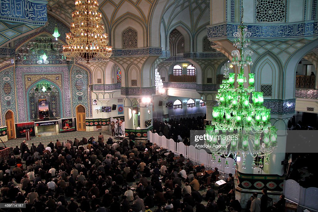 Iranians gather at the ShahAbdolAzim shrine to commemorate Arbaeenthe end of 40day mourning following the anniversary of the death of the Prophet...