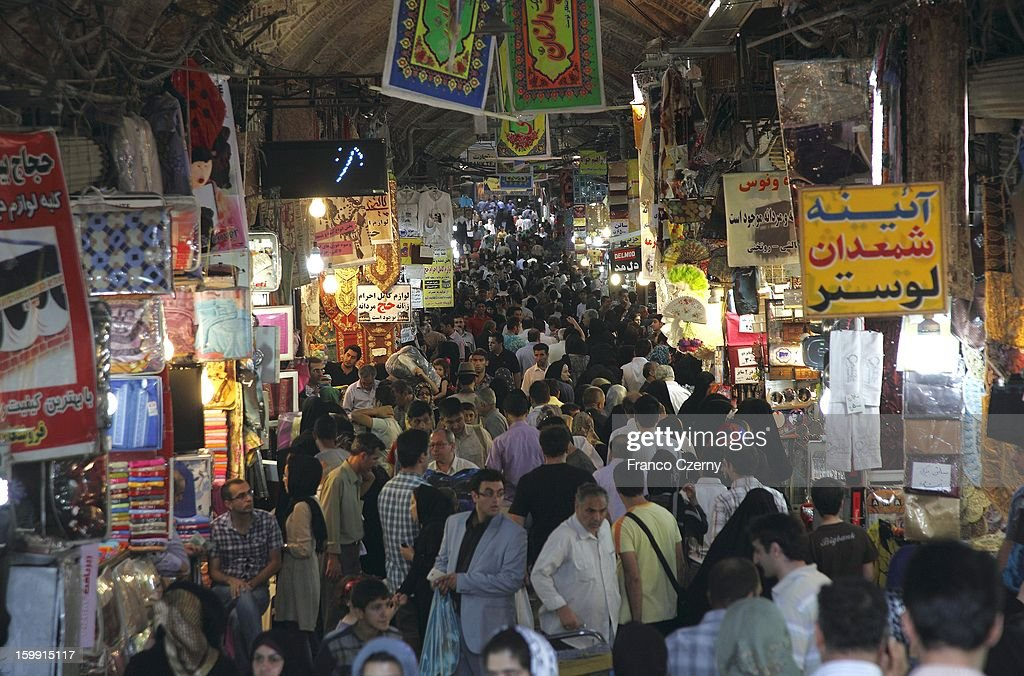 Iranian's shop at a Bazar on August 13, 2012 in Tehran, Iran.
