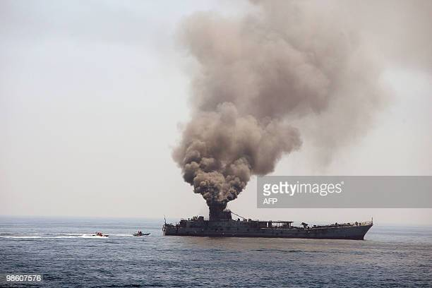 Iran's elite Revolutionary Guard boats attack a naval vessel during a threeday military drill in the Gulf on April 22 2010 Iran's elite Revolutionary...