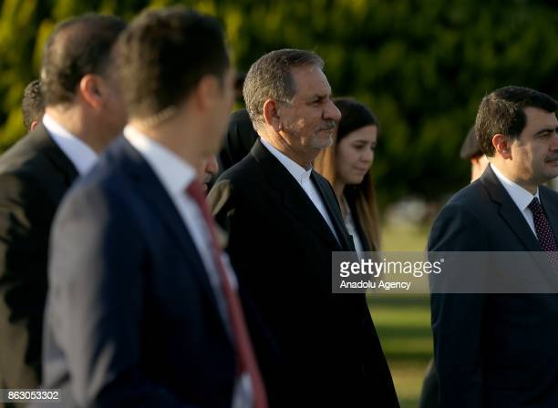 Iran's First Vice President Eshaq Jahangiri arrives to attend the 9th D8 Organization for Economic Cooperation Summit in Istanbul Turkey on October...