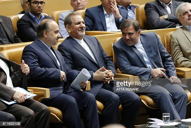 Iran's first VicePresident Eshaq Jahangiri Minister of State of Cultural Heritage and Tourism Masud Soltanifar and Iranian Transport Minister Abbas...