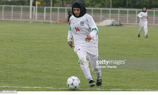 Iran's National Women's team hosted Germany's Desmespur Berlin Club in Tehran during their second friendly Iranian women won the game 31 here on...