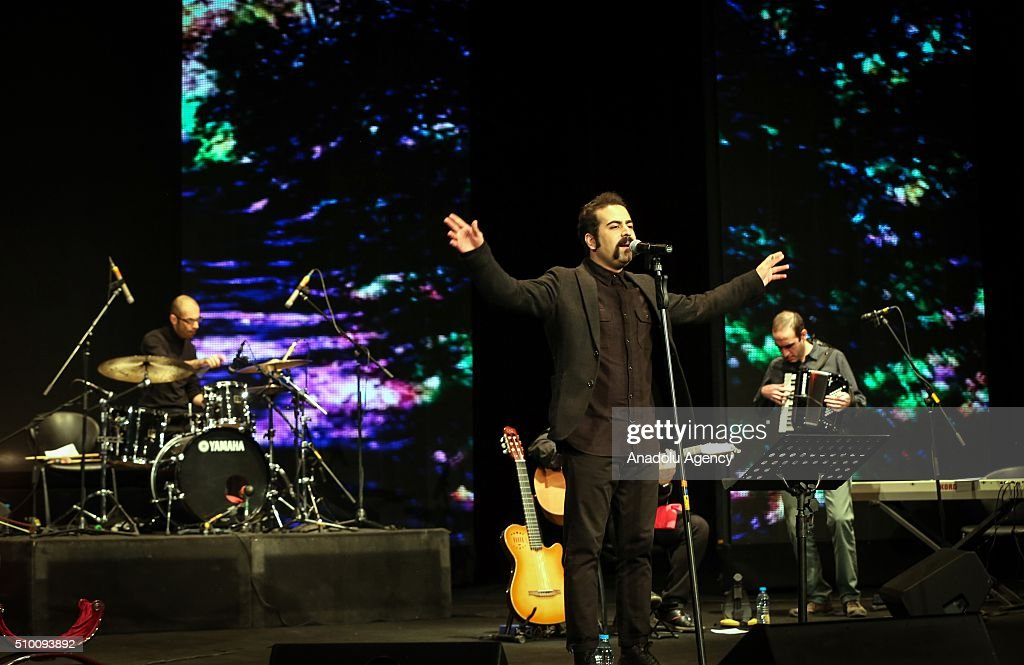 Iran's Pallet music band perform in a concert during the 31st edition of the Fajr International Music Festival in Tehran, Iran on February 13, 2016.