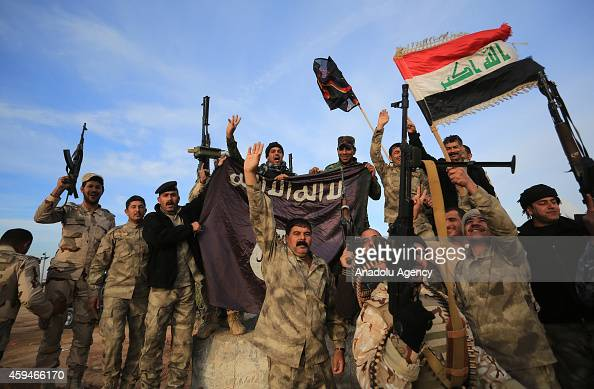 Iraq army forces and Peshmerga forces launch an USled operation against Islamic State of Iraq and the Levant in Sadiye town of Diyala Iraq on...