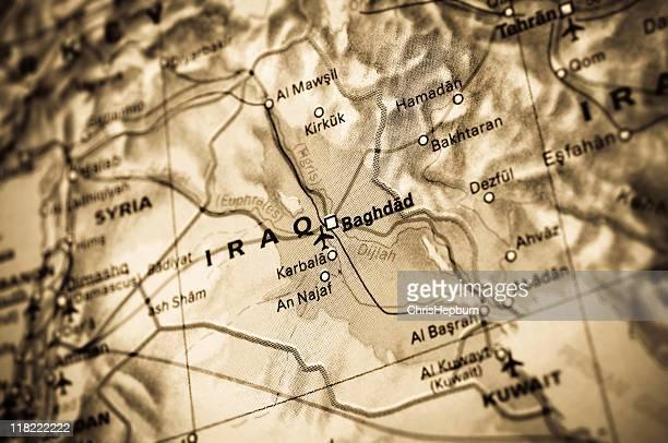 Iraq Map Toned