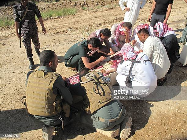 Iraq members of the Sahwa or Awakening Sunni rebels who sided with US soldiers against AlQaeda during Iraq's brutal insurgency mourn during the...