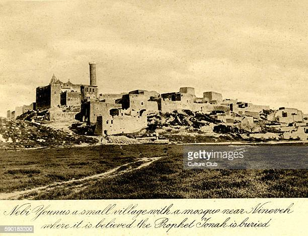 Iraq Nebi Younus a village with a mosque near Nineveh where it is believed the Prophet Jonah is buried Photo taken in 1920s after creation of Iraq