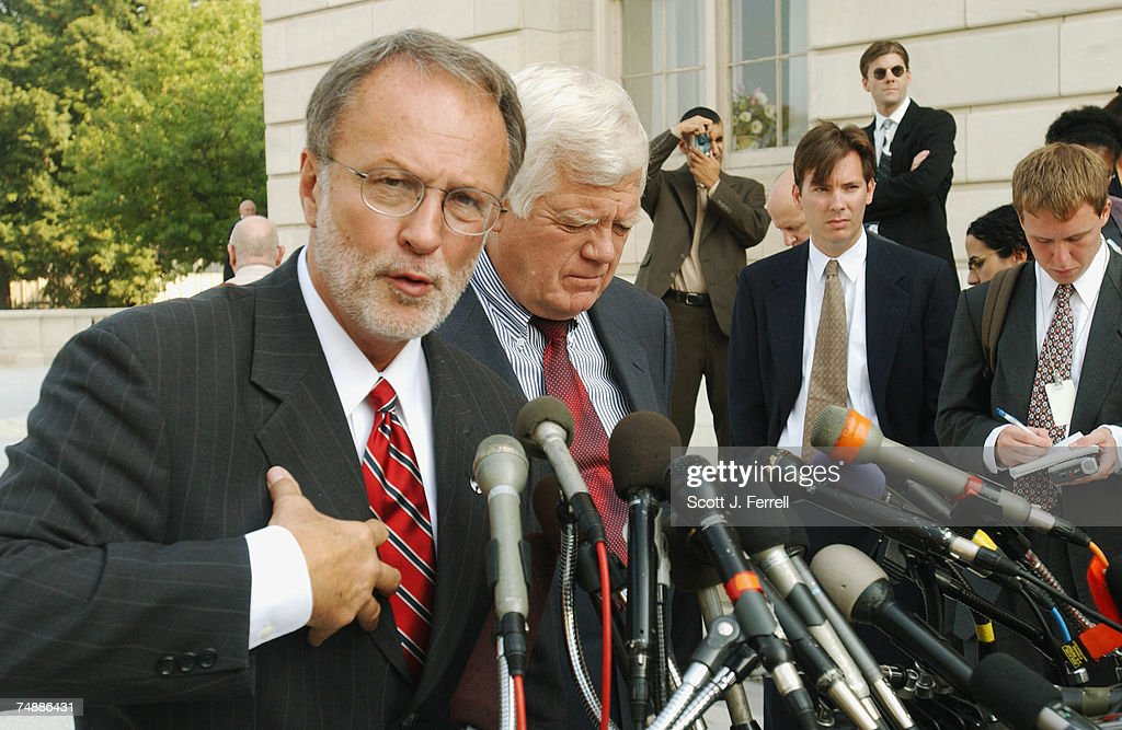IRAQ--David E. Bonior, D-Mich., and Jim McDermott, D-Wash., during a news conference on their trip last week to Iraq.