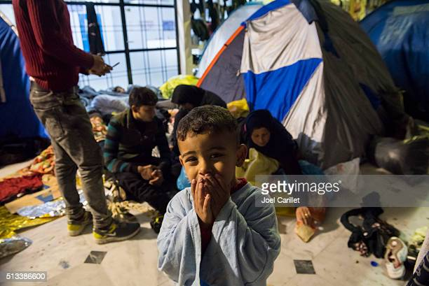 Iraqi and Syrian refugees on Lesbos, Greece