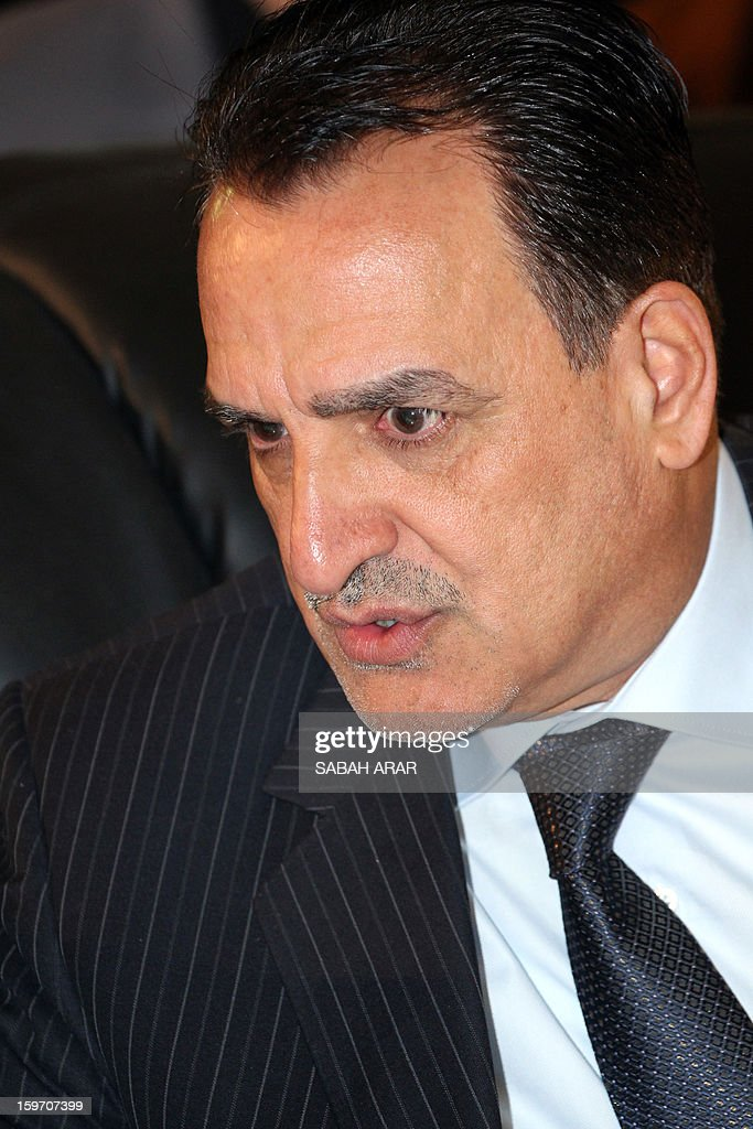 Iraqi Deputy Interior Minister Adnan al-Assadi attends a meeting headed by the Sunni and Shiite clan leaders in Baghdad to listen to the demands of the protestors in an attempt to halt the escalation of demonstrations in Sunni areas, on January 19, 2013.