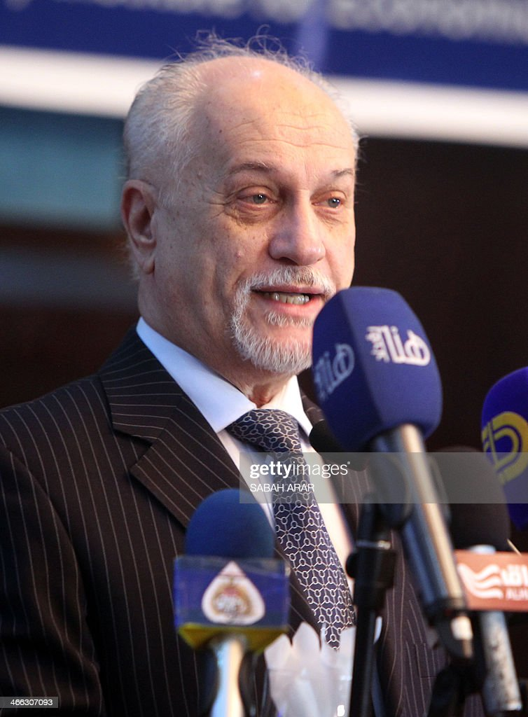 Iraqi Deputy Prime Minister for Energy Affairs Hussein al-Shahristani speaks during a meeting gathering politicians and oil experts to discuss the export of oil from Iraq's northern Kurdish region on February 1, 2014 in the Iraqi capital, Baghdad. Al-Shahristani criticised the autonomous Kurdish region's push towards exporting oil independently of Baghdad, calling it a grey area lacking in transparency.