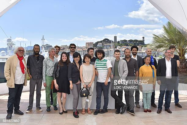 Iraqi director Koutaiba AlJanabi Nepalese director Bibhusan Basnet the General Manager of the Cinefondation Georges Goldenstern ColombianBelgian...