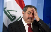 Iraqi Foreign Minister Hoshyar Zebari addresses a press conference with German Foreign Minister Guido Westerwelle in Berlin on May 4 2011 They met...
