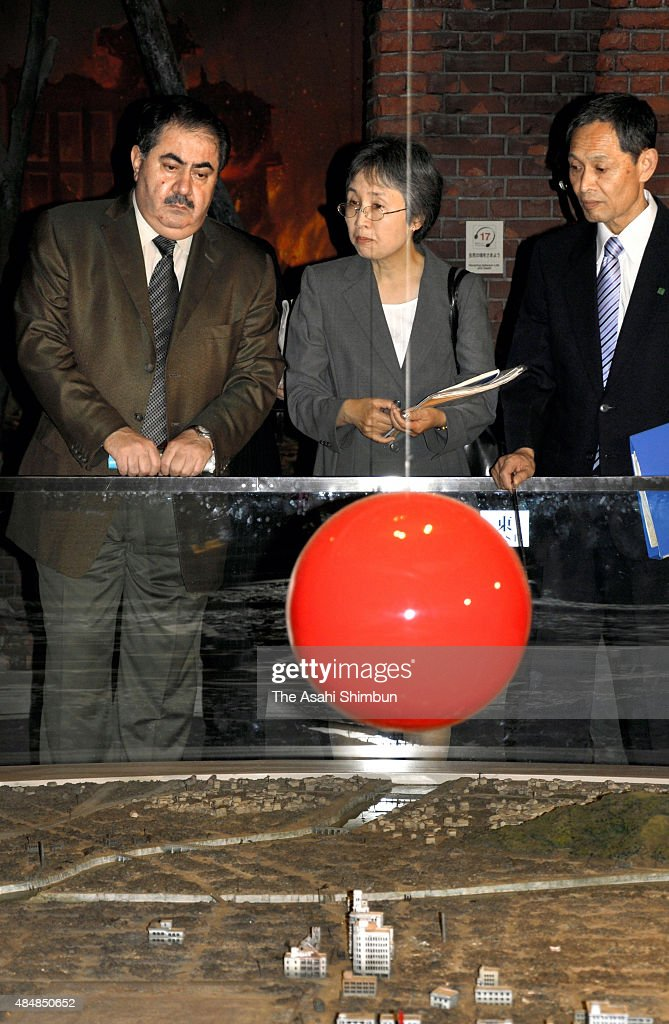 Iraqi Foreign Ministere Hoshyar Zebari is seen during his visit to the Hiroshima Peace Memorial Museum on June 20 2009 in Hiroshima Japan
