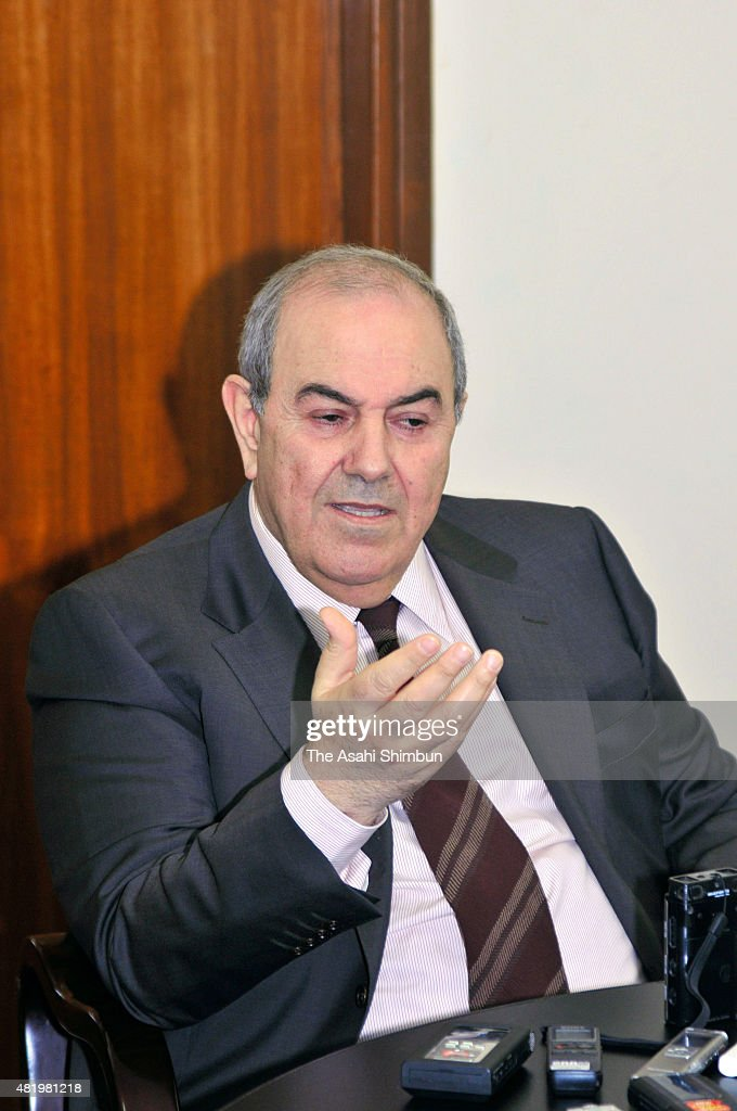 Iraqi Interim Prime Minister <a gi-track='captionPersonalityLinkClicked' href=/galleries/search?phrase=Ayad+Allawi&family=editorial&specificpeople=210652 ng-click='$event.stopPropagation()'>Ayad Allawi</a> speaks during a group interview on September 2, 2010 in Baghdad, Iraq.