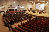 Iraqi Parliament members attend a voting session on November 11 2010 in the Green Zone area in Baghdad Iraq Iraqi parliament members met today and...