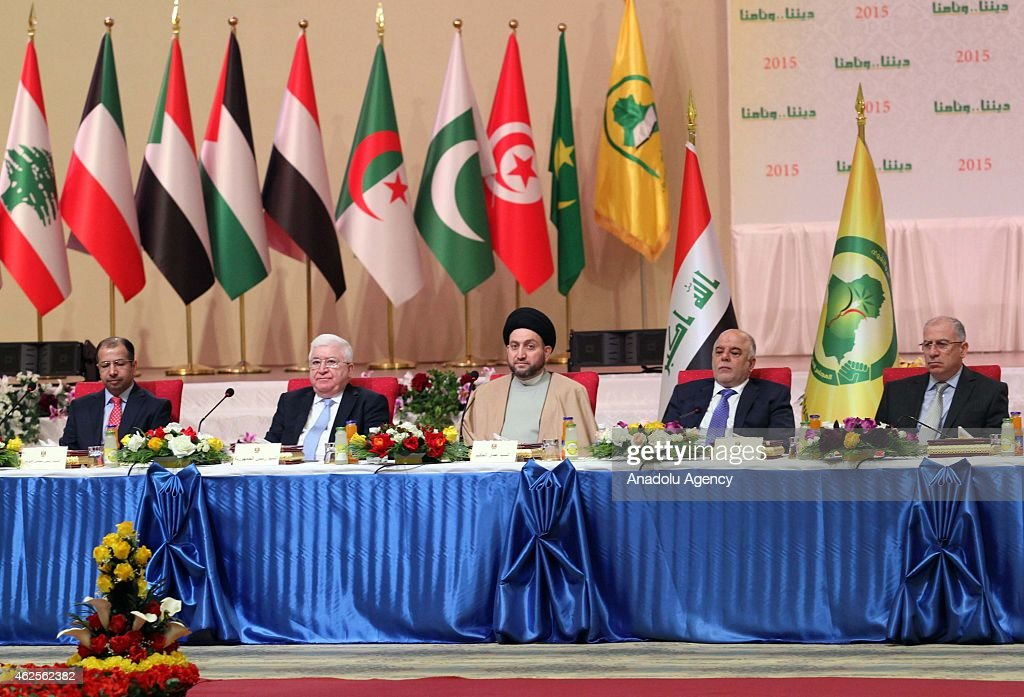 Iraqi Parliament Speaker Selim elCuburi Ammar alHakim President of the Islamic Supreme Iraqi president Fuad Masum Iraqi Prime minister Haider alAbadi...