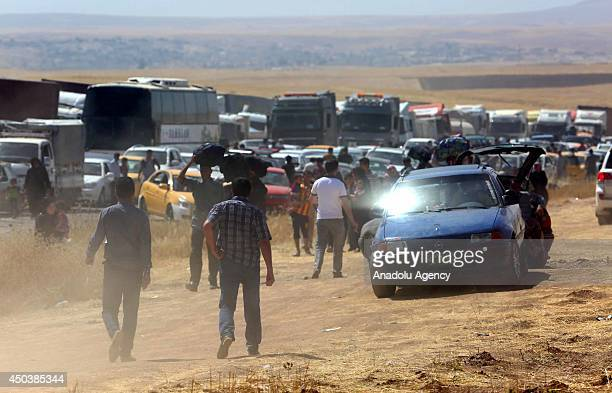 Iraqi people flee from Mosul to Arbil and Duhok due to the clashes between security forces and militants of Islamic State of Iraq and the Levant in...