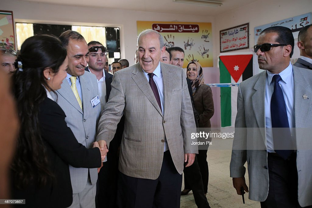 Iraqi politician <a gi-track='captionPersonalityLinkClicked' href=/galleries/search?phrase=Ayad+Allawi&family=editorial&specificpeople=210652 ng-click='$event.stopPropagation()'>Ayad Allawi</a> arrives to vote in the Iraqi parliamentary elections at a polling station April 27, 2014 in Amman, Jordan. Iraq's former prime minister <a gi-track='captionPersonalityLinkClicked' href=/galleries/search?phrase=Ayad+Allawi&family=editorial&specificpeople=210652 ng-click='$event.stopPropagation()'>Ayad Allawi</a> on Sunday described the atmosphere as 'unfair' in which his country's current legislative elections take place.