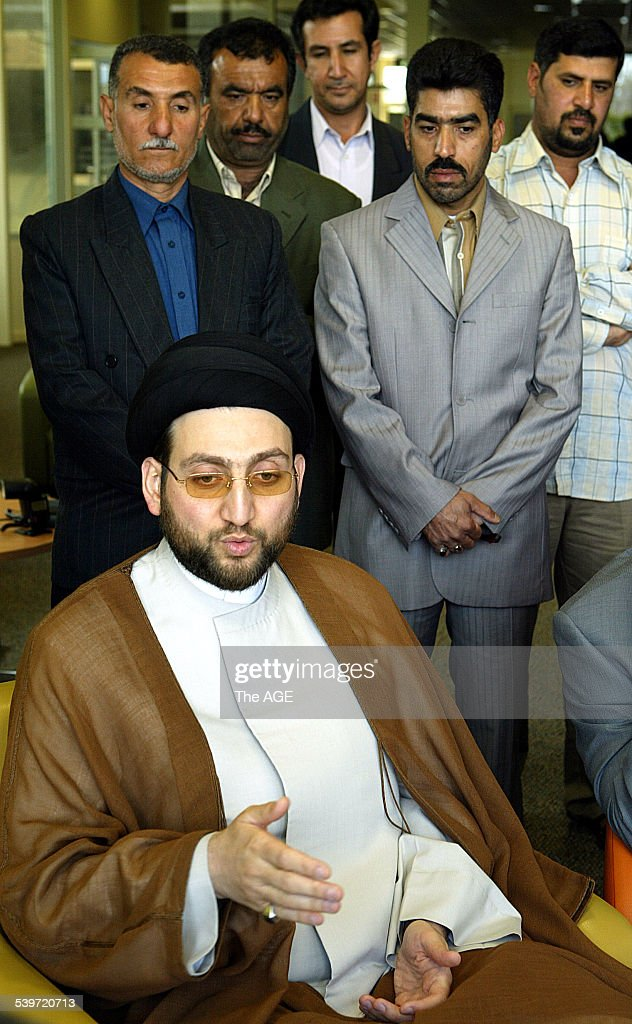 Iraqi polititician Mr Ammar Al Hakim of tha Iraqi National Assembley who was meeting with members of the Iraqi community at Thomastown 11 September...