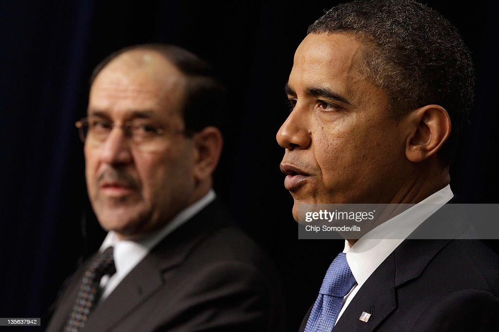 President Obama Meets With Iraqi Prime Minister Nouri Al-Maliki At The White House