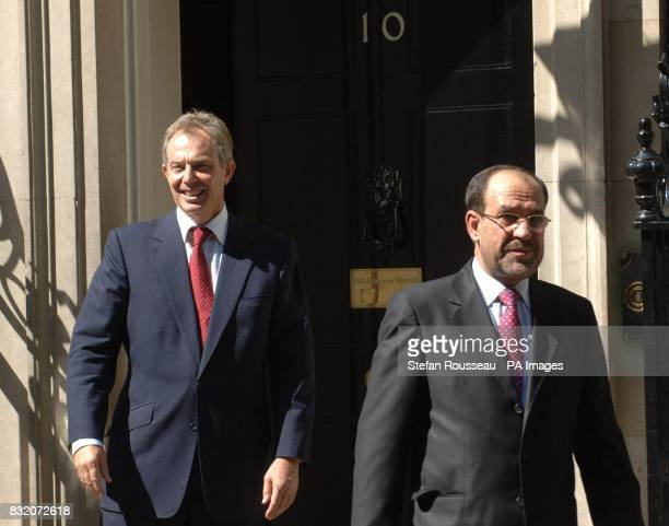 Iraqi Prime Minister Nouri Maliki departs 10 Downing Street after meeting British counterpart Tony Blair
