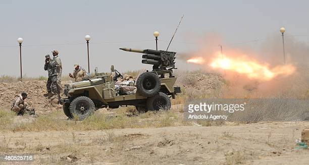Iraqi security forces and Shia Hashdi Shabi forces attack Falluja in AlAnbar Province with heavy weapons in order to liberate it from Daesh on July...