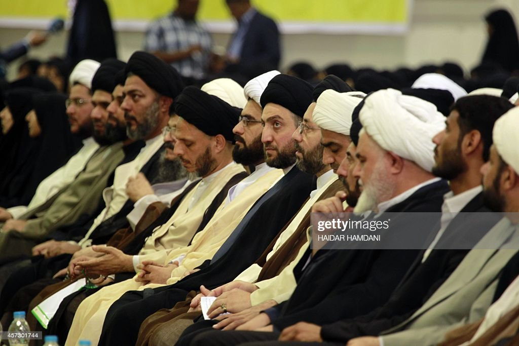 Iraqi Shiite Muslim leader Ammar alHakim head of the Islamic Supreme Council of Iraq attends a religious conference in the shrine city of Najaf on...