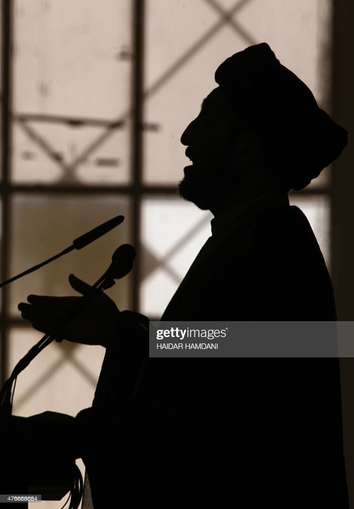 Iraqi Shiite Muslim leader Ammar alHakim head of the Islamic Supreme Council of Iraq addresses a religious conference in the holy Iraqi city of Najaf...
