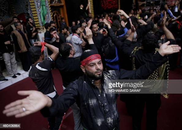 Iraqi Shiite Muslim pilgrims perform acts of worship during the Arbaeen religious festival which marks the 40th day after Ashura commemorating the...