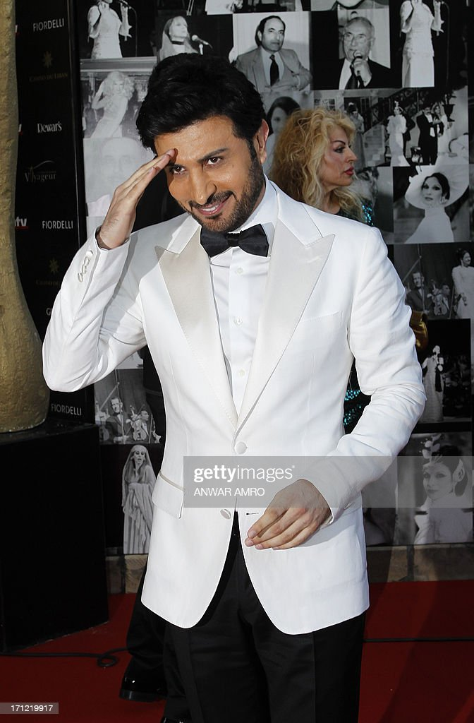Iraqi singer Majid al-Muhandis arrives for the 13eme Murex D'or Festival taking place at the Casino Du Liban, north of the capital Beirut, on June 23, 2013.