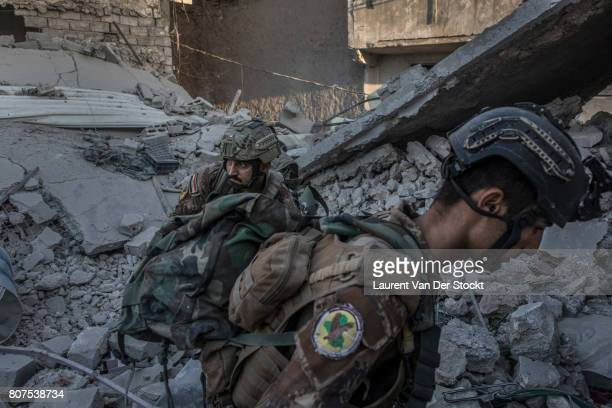 Iraqi soldiers in alNuri mosque complex on June 29 in Mosul Iraq The Iraqi Army Special Operations Forces and CounterTerrorism Services made a new...