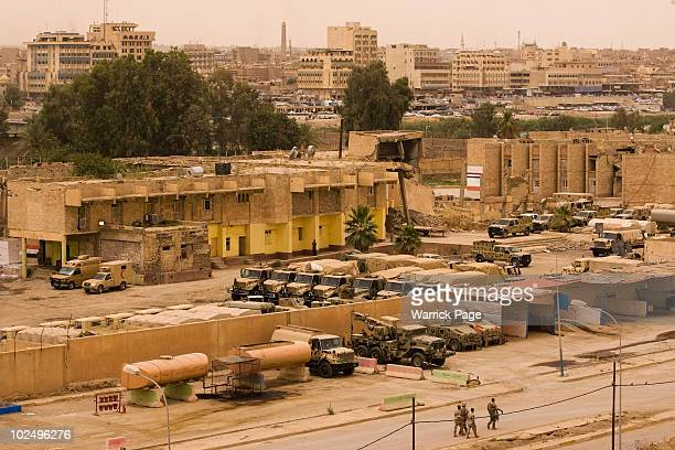 Iraqi soldiers of the 2nd Division walk in front of their partially refurbished barracks on June 5 2010 in Mosul Iraq Iraq faces multiple challenges...