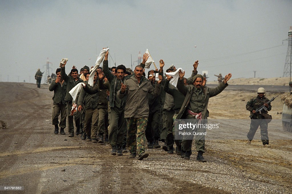 Iraqi soldiers surrendering to Allied forces thus becoming prisoners of war The invasion of Kuwait by Iraqi troops despite warnings from such...