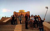 Iraqi tourists visit the Sherwana Citadel in the Kurdish city of Kalar 126 kms south of Sulaimaniya on September 27 2015 AFP PHOTO / SAFIN HAMED