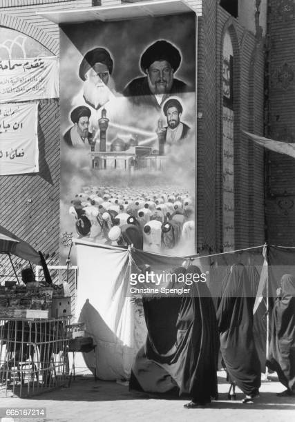 Iraqi women outside the Kadhimiya Mosque in Baghdad The mosque was built in 1515 and is one of Iraq's most holy Shiite shrines