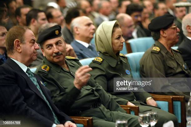 Iraq's Oil Minister Samir Abdel Aziz alNajem and member of the Revolution Council Hoda Mehdi Ammash member of the Revolution Council Abdel Tawab...