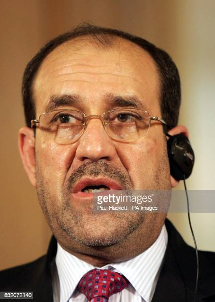 Iraq's Prime Minister Nouri alMaliki speaks during a news conference with Britain's Prime Minister Tony Blair at 10 Downing Street London